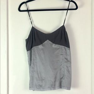 Marc Jacobs shirt camisole gray top silver blouse